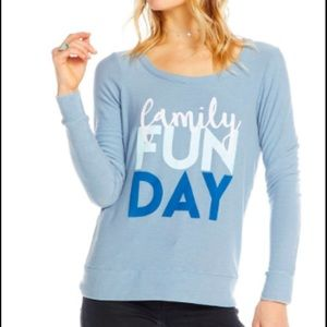 New Chaser Family Fun Day Graphic Sweatshirt Small